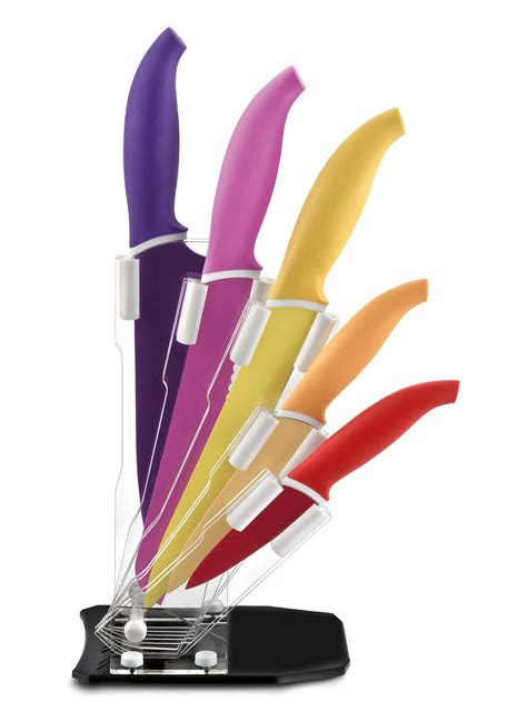 bloc couteau cuisine bloc couleur cuisine 5 couteaux coloris lumineux