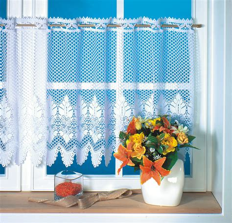 160x45cm drop polyester lace kitchen cafe curtains and