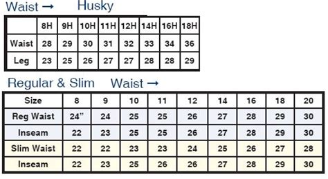 levis boys husky size chart levis infant youth  jeans products  love pinterest