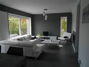 ophreycom salon blanc et creme deco prelevement d With salle a manger et salon moderne