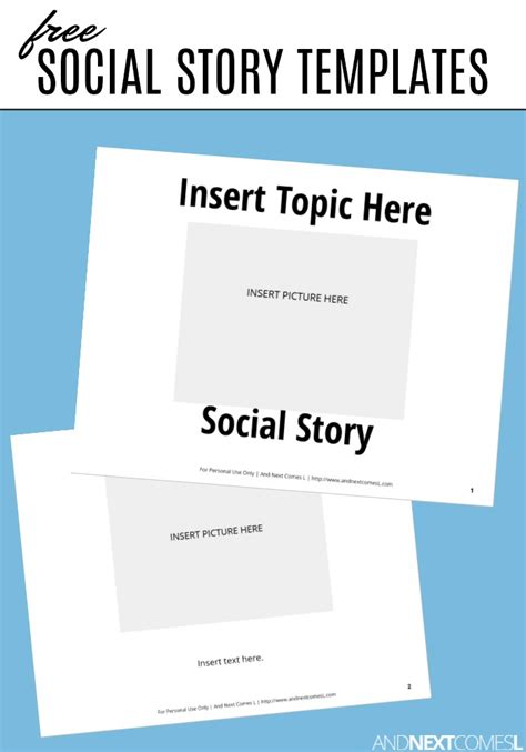 social story templates free social story templates and next comes l