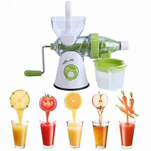 Manual Hand Crank Juicer Fruit U0026vegetable Juice Extractor