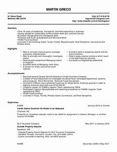 martin greco resume 2 31 With claims adjuster resume template