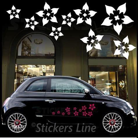 adesivi auto fiori kit adesivi auto fiori mod 4 32pezzi smart fiat 500
