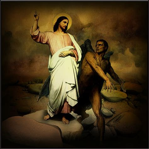 Image result for images christ temptation desert