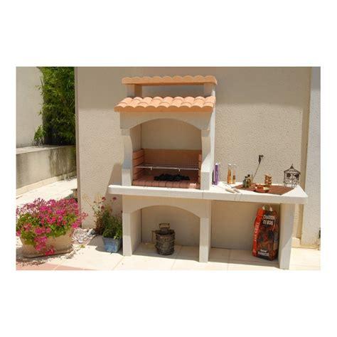 barbecue exterieur en barbecue d ext 233 rieur borneo en b 233 ton peint 224 charbon de bois
