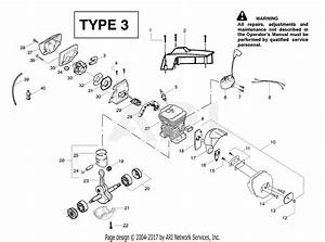 Poulan 2900 Gas Saw Type 3 Parts Diagram For Engine