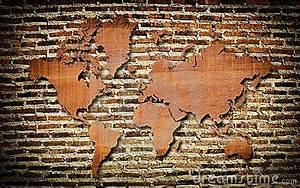 Carte Du Monde En Bois : carte du monde de cru avec la texture en bois de cru image stock image 23896741 ~ Teatrodelosmanantiales.com Idées de Décoration