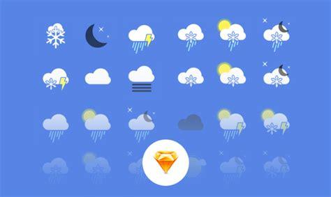 weather app icons sketch psdblast