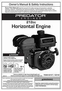 Predator Engines 212cc Owner U0026 39 S Manual  U0026 Safety