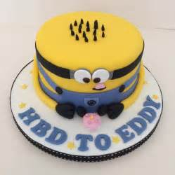 wedding cake and cupcakes minion birthday cake