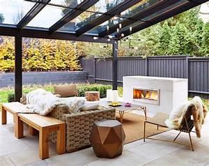 cheminee exterieure moderne pour rechauffer lambiance de With photo deco terrasse exterieur 7 deco fausse cheminee