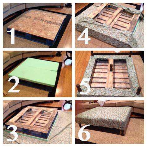 how to build an ottoman diy build your own coffee table ottoman plans free