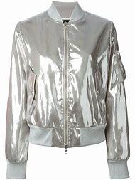 Grey Metallic Bomber Jacket