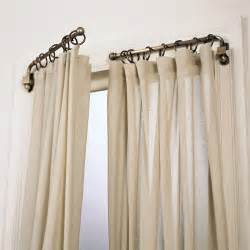 pivoting curtain rod rooms
