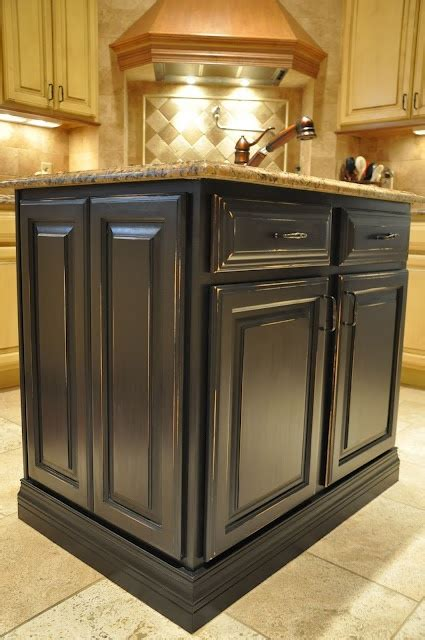 painted islands for kitchens antique black painted kitchen island new home ideas pinterest
