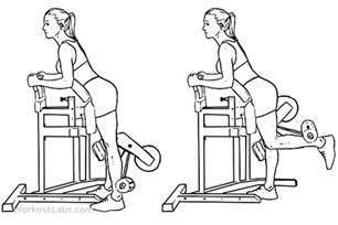 Standing Kickbacks Exercise by Standing Leg Hamstring Curl Illustrated Exercise Guide