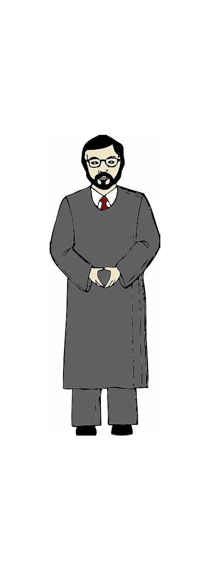Judge Standing Clipart Clip Vector Cartoon Cliparts