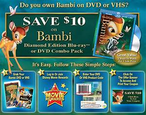 Save 10 On Bambi Diamond Edition Blu Ray Or Dvd Combo Pack