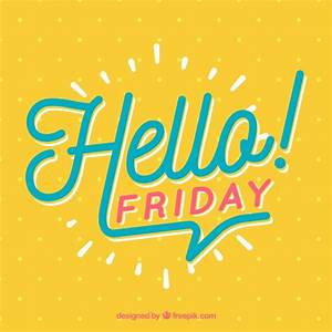 Hello friday, background with points Vector | Free Download
