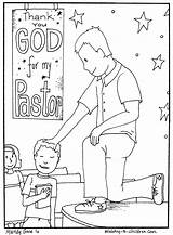 Appreciation Coloring Pages Pastor Children Church Sunday Month Ministry Sheet Gifts Colouring October Teacher Churches Pastors Crafts Printables Anniversary Printable sketch template
