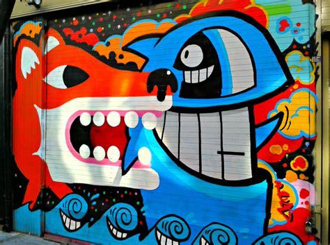 filegraffiti  shoreditch london fox  fish