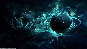 planet, Space, Abstract, Blue, Green Wallpapers HD ...