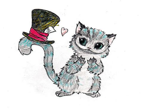 Cheshire Cat Loves Hat By Moutinou On Deviantart