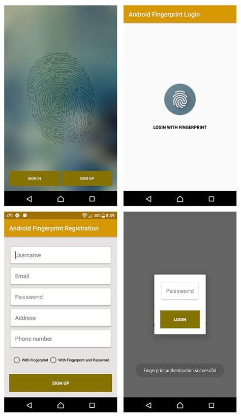 android fingerprint using android fingerprint api for user login and