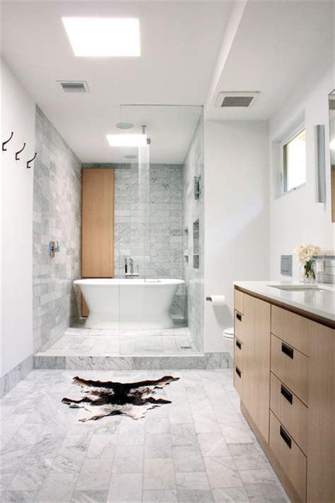 narrow bathroom vanities area shower tub contemporary bathroom los