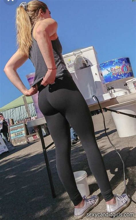 Leggings Tight Ass Candid Candid Tight