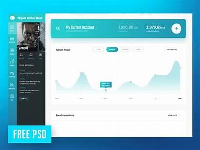 Skynet Template Bank Psd Dribbble Templates Global