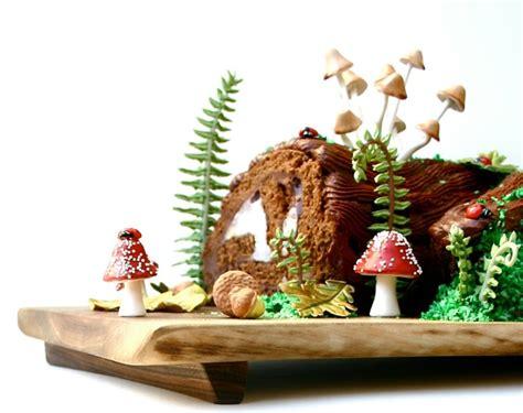 decoration buche de noel  dessert authentique