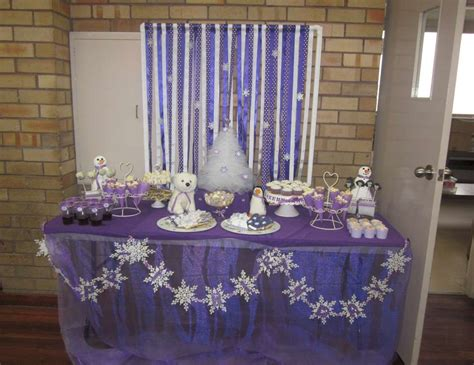 Winter, Snowmen, Snowflakes, Purple And White Birthday