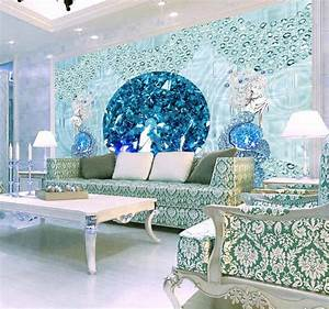 Europea Luxury 3D Stereoscopic mermaid Wallpaper Murals ...