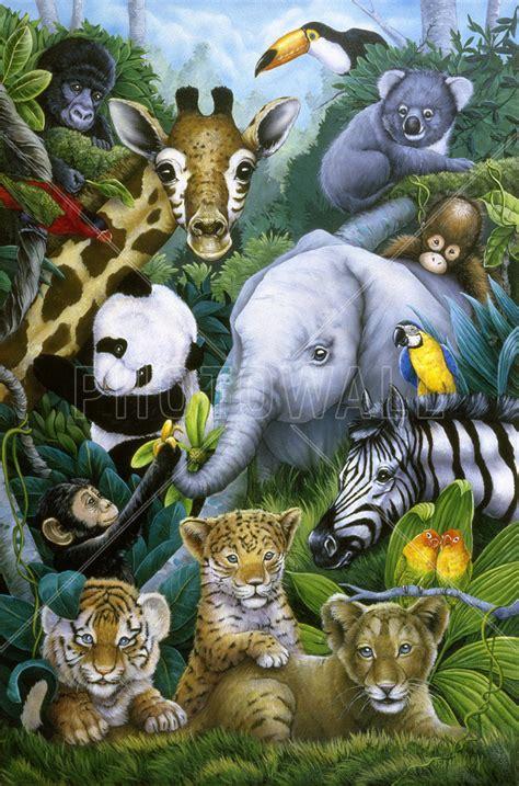 Animal Wallpaper For Walls - jungle animals wall mural photo wallpaper photowall