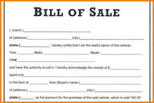 Bill Of Sale Template by 8 Automobile Bill Of Sale Template Word Land Scaping Flyers