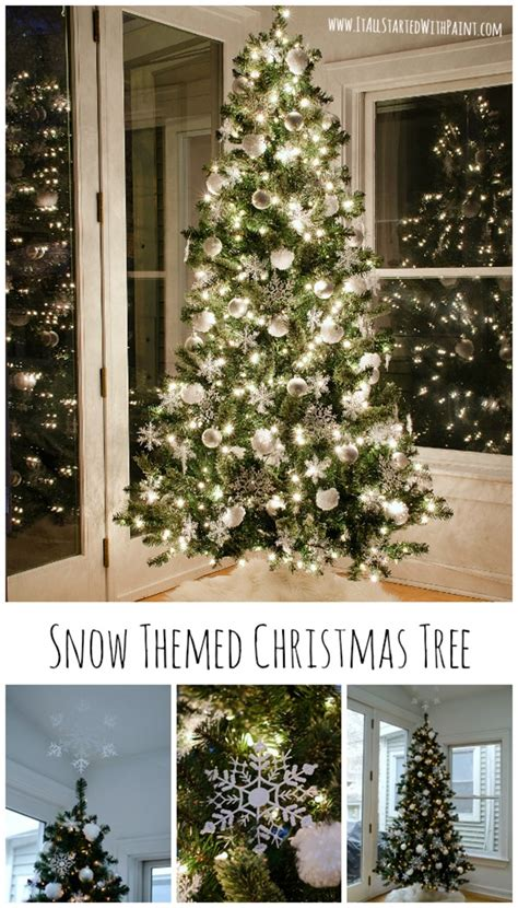 snow christmas tree and 100 gift card giveaway it all