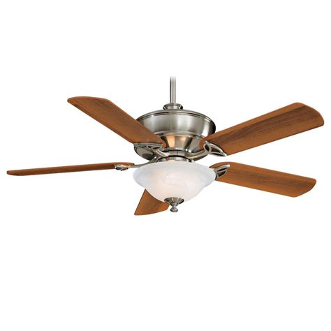 52 ceiling fan with light minka aire f620 bn bolo brushed nickel 52 quot ceiling fan w