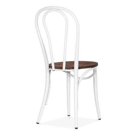 chaise bistrot thonet white thonet style bistro chair with wood seat cult