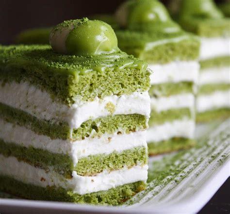 matcha almond genoise layer cake sprinkle bakes