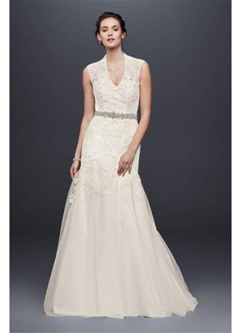 Melissa Sweet Cap Sleeve Lace Wedding Dress   Davids Bridal