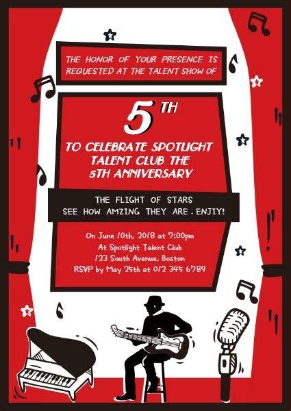 annual student talent show invitation template