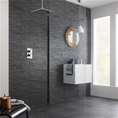 Snowdonia Grey Mini Splitface Ceramic Tiles   Tilesporcelain