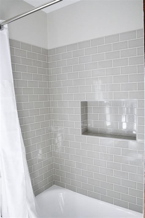 Best 25+ Gray Subway Tiles Ideas On Pinterest  Bathrooms