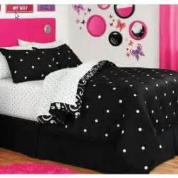 black white polka damask reversible comforter