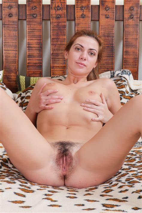 Wide Open Edica And Her Hairy Pussy Topless Woman