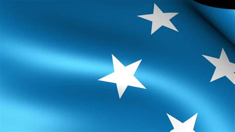 Waving micronesia flag Footage | Stock Clips