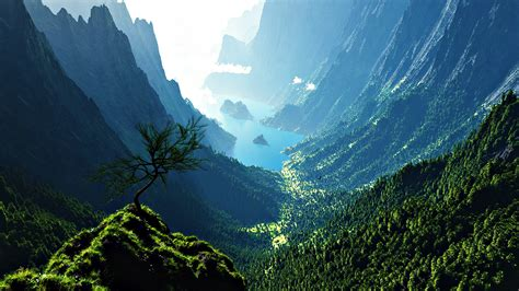 mountain valley backgrounds wallpaper