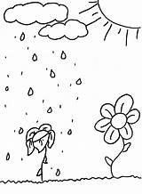 Sun Coloring Pages Shower Spring Flowers Printables Summer Colorat Ploaie Coloringkids Soare Planse Si Elf Craft Springtime Vara Bear Index sketch template